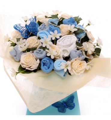 Blue and Cream Baby Bouquet