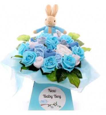 Peter Rabbit Diamante Baby Bouquet.