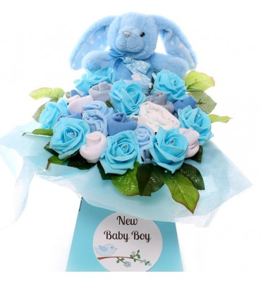 Rabbit Diamante Baby Bouquet.