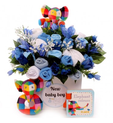 Elmer The Elephant Baby Bouquet Gift Set.