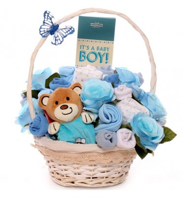 Teddy Comfort Blanket Baby Bouquet.
