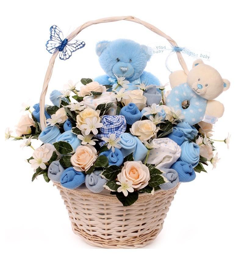 Two Little Bears New Baby Boy Bouquet