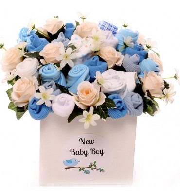 New Baby Boy Clothing Bouquet.