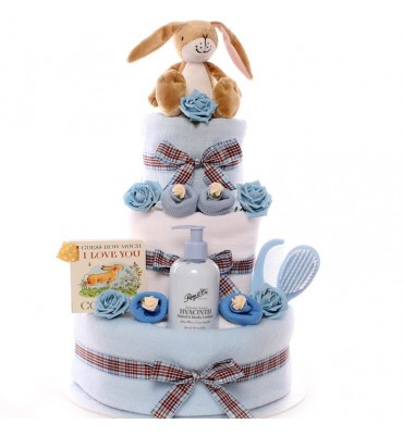 Guess How Much I Love You 3 Tier Nappy Cake.