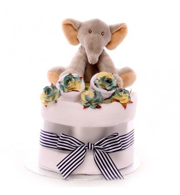 Elephant Mini Nappy Cake.