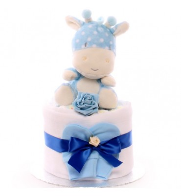 Mini Giraffe Nappy Cake New Baby Boy.
