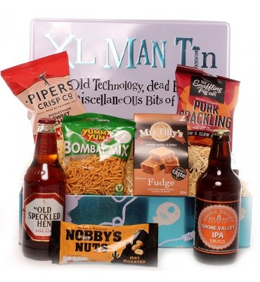 XL Man Tin DVD Hamper
