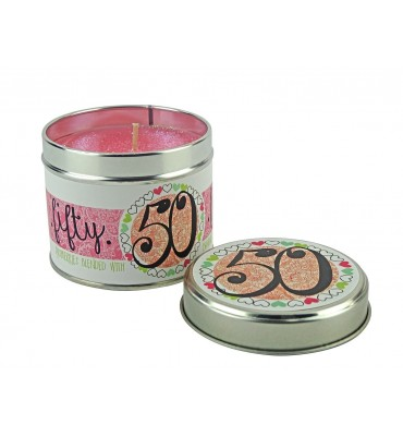 50th Birthday Scented Candle