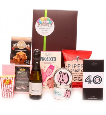 40th Birthday Prosecco Gift Package.