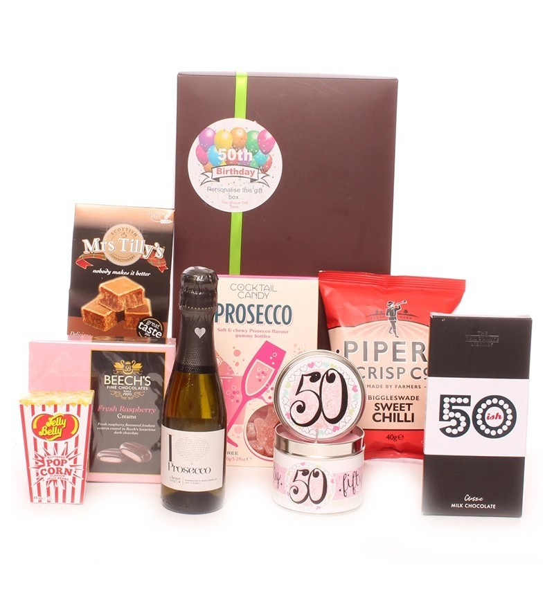 50th Birthday Prosecco Time Gift Package
