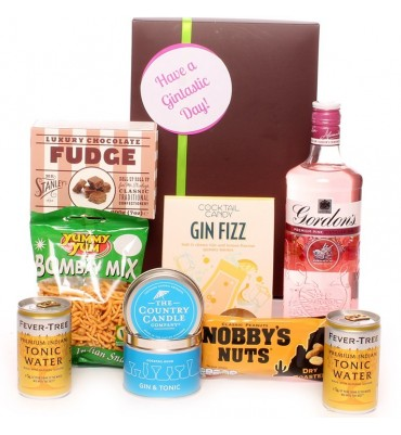 Have a gintastic day alcohol hamper.