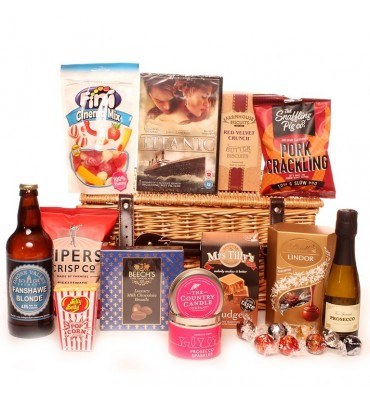 Night in for two luxury DVD hamper