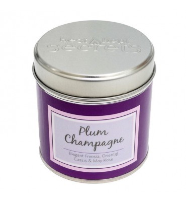 Plum Champagne Scented Candle