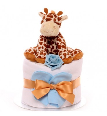Giraffe Mini Nappy Cake