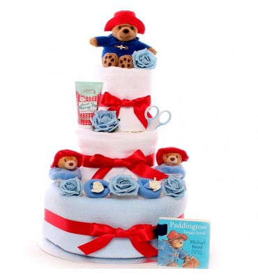 Paddington Bear Booties Nappy Cake