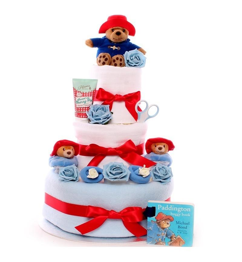 Paddington Bear Booties Nappy Cake