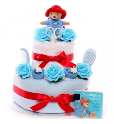 Paddington Bear 2 Tier Nappy Cake