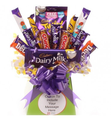 Treat Time Chocolate Bouquet Personalised.