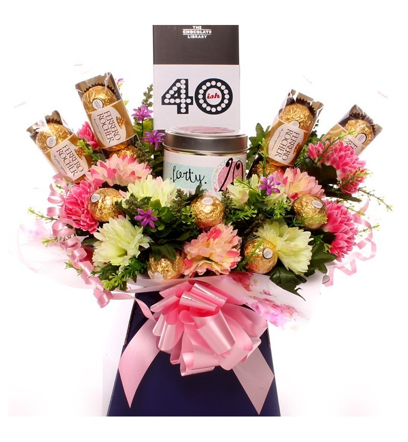 40th Birthday Candle Bouquet