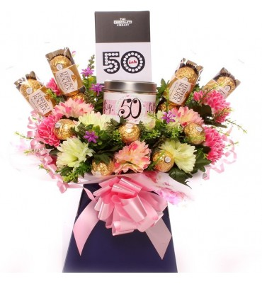 50th Birthday Candle Bouquet