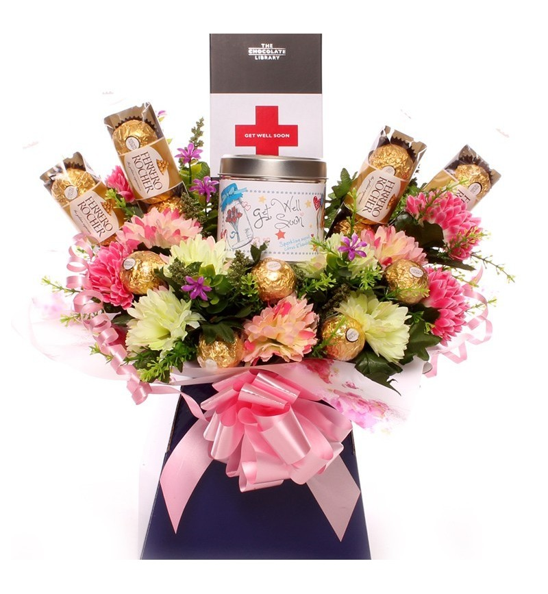 Get Well Soon Candle Bouquet.
