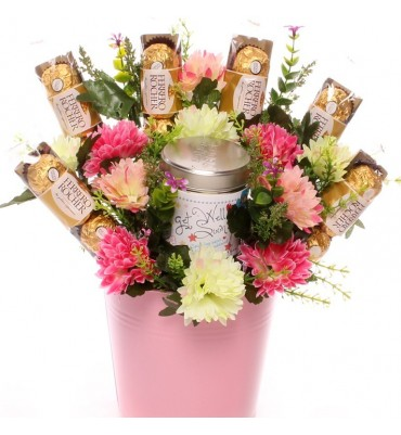 Get Well Soon Candle Gift Bouquet.