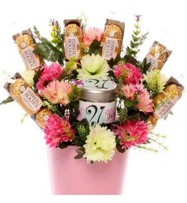 21st Birthday Candle Gift Bouquet