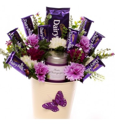 Plum Champagne Candle Bouquet.