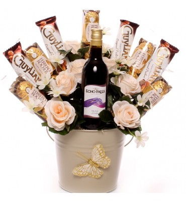 Red Wine Candle Bouquet.
