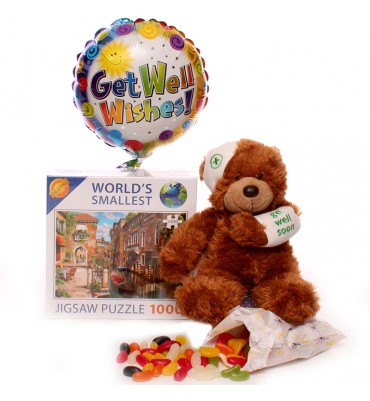 Get Well Soon Teddy Gift Set