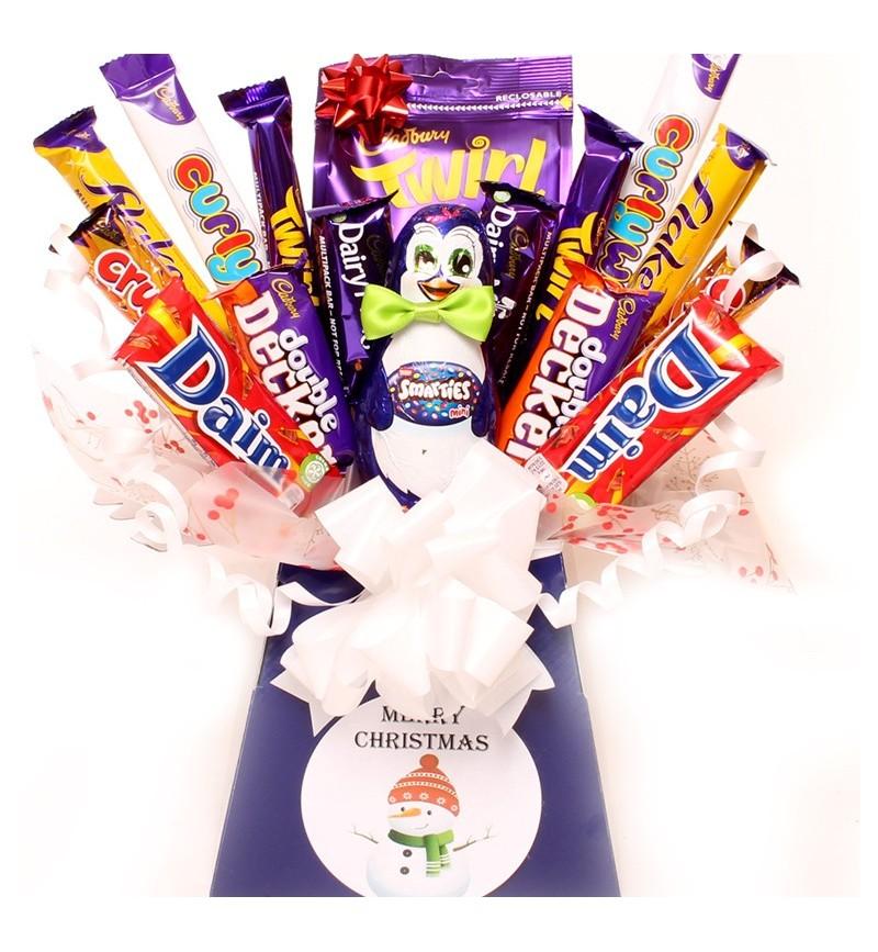 Smarties Penguin Chocolate Bouquet