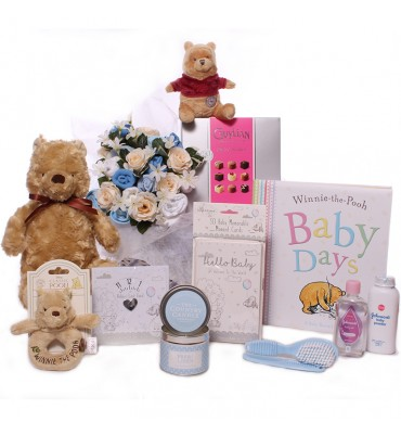 Pooh Bouquet in Basket Gift...