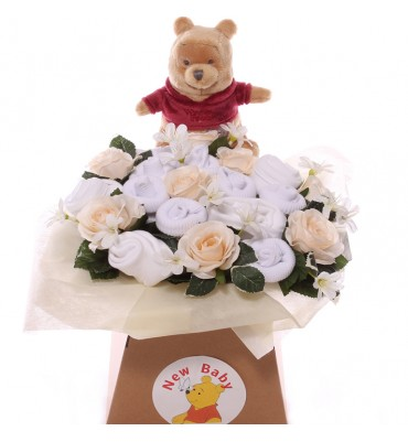 Neutral Pooh Baby Bouquet