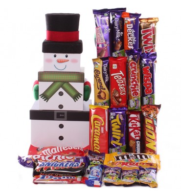 Choc a Block Snowman Tower