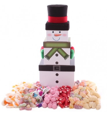 Pick and Mix Snowman Tower