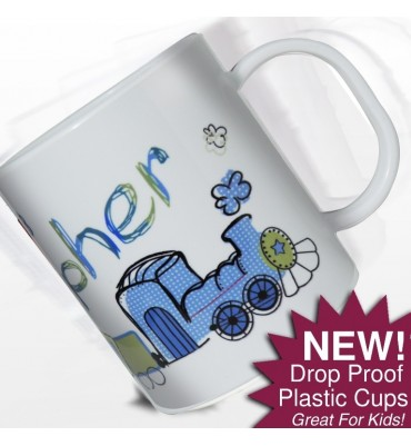 Personalised Mug with a Train Design