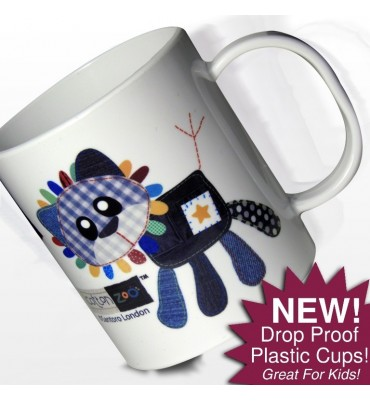 Personalised Drop Proof Mug with Cute Lion Design