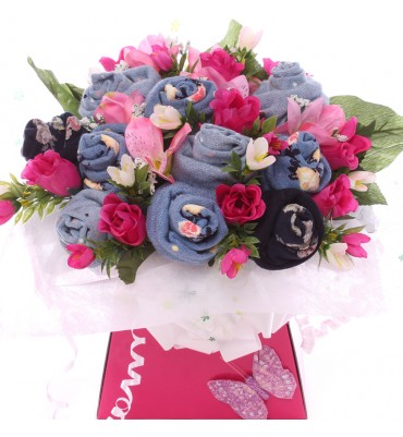 Pink Posy ladies Sock Bouquet