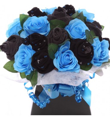 Men's Sock and Flower Bouquet