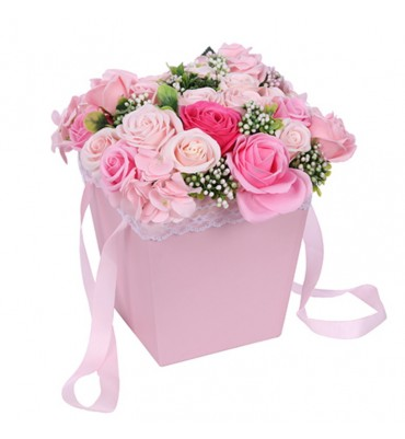 Pink Soap Flower Roses and...
