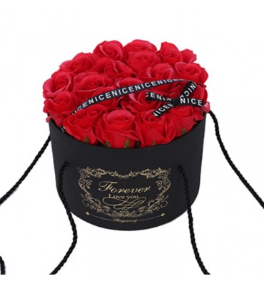 Black Hat Box with Red Soap...