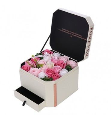 Soap Flowers Box With...