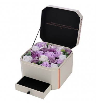 22cm IVORY FLOWER BOX WITH...