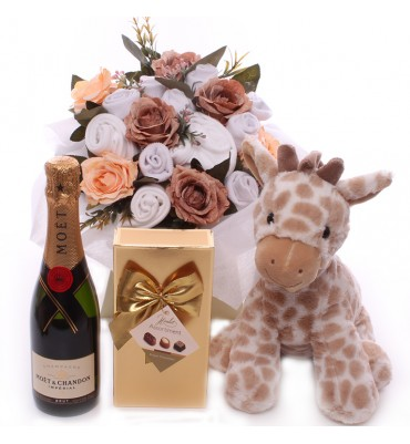 Champagne Welcome Baby Bouquet