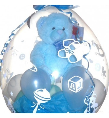 Teddy inside a Balloon - Soft Blue Teddy
