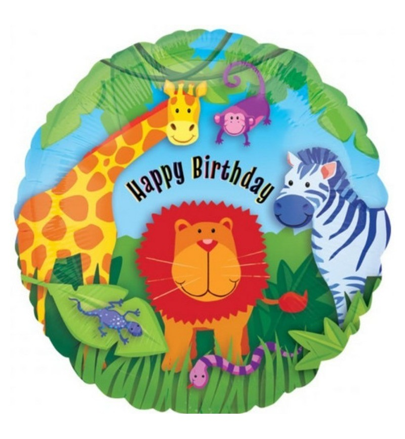 Happy Birthday Animal Kingdom Helium Balloon In A Box