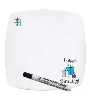 Personalised Happy Birthday Message Plate