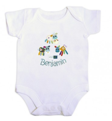 Personalised Cotton Zoo Boys Farmyard Vest