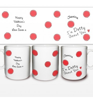 Personalised Dotty About You Mug