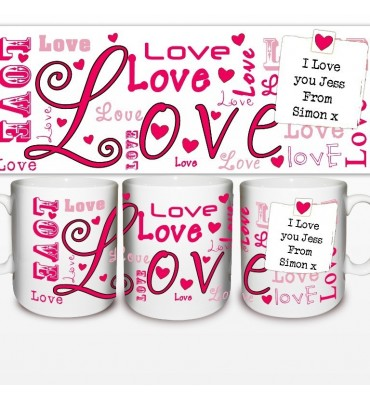 Personalised Mug with lots of Love for Valentines Day